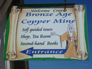 Sign at Entrance of Great Orme Ancient Mines