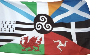 Alternative Celtic flag with Galician flag included