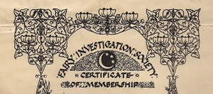 Membership Certificate for original FIS