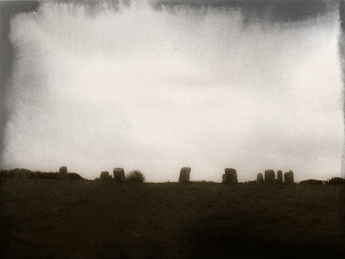 Merry Maidens stone circle on Halloween night