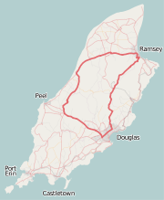 Isle of Man TT course map