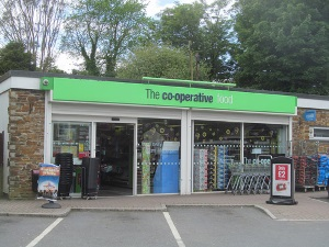 Co-op Stores, Falmouth Road, Redruth as it is today - built over the site of Great Granny's cottage