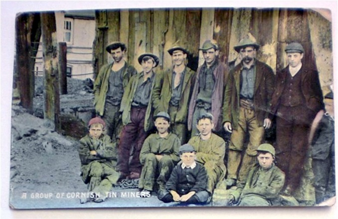 Photo A: Cornish miners great great grandfather