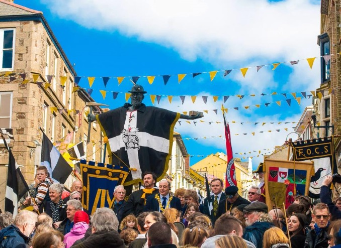 St Piran's Day 2015, Redruth
