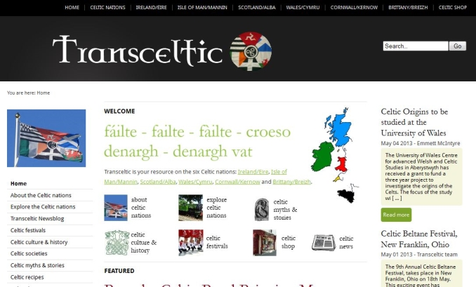 Second Transceltic website