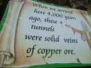 Great Orme Ancient Mines. Information within the mine tunnels