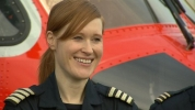 Coastguard helicopter pilot Captain Dara Fitzpatrick. Picture from RTE