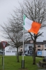 Flag flies at half-mast in the Bogside area of Derry