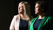 Michelle O'Neill and Mary Lou McDonald. Picture from RTÉ