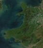 Wales satellite image by NASA