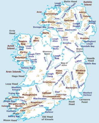 Map Of Ireland 900 Ad.Magic And Mystery Of Ireland S Rivers Transceltic Home Of The