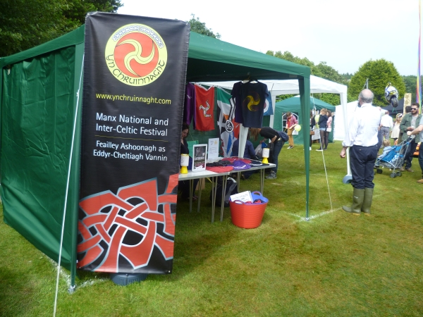 Display promoting Yn Chruinnaght at Tynwald Day Fair