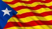 Catalan Flag supporting independence