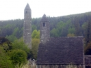 Glendalough Cross and Deer Stone
