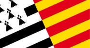 Combined flags of Brittany and Catalonia