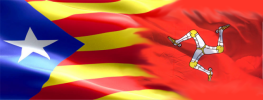 Joint Catalan and Manx flags
