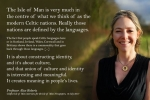 Professor Alice Roberts in interview with Isle of Man newspapers