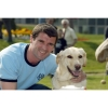 Roy Keane with guide dog Benny