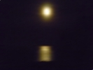 Moon over Laxey Bay Isle of Man