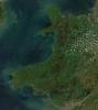 Wales satellite image by NASA
