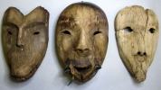 Wooden masks discovered at Nunalleq image from University of Aberdeen
