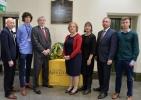 Wreath laying ceremony in memory of former Aberystwyth university student Gareth Jones